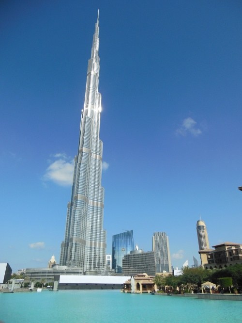 The tallest building in the world. It's almost twice the height of the Empire State Building.