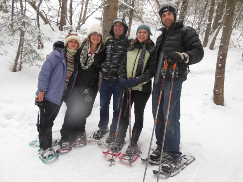 A nature break- some ancestrally minded physicians snowshoeing in Wasatch National Forest.