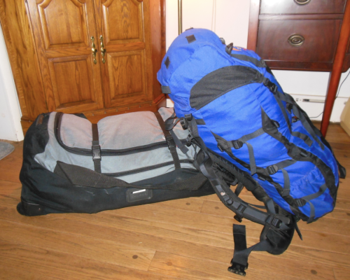 Bags are packed and I'm ready to go (both under 50lbs, though I'm getting close).