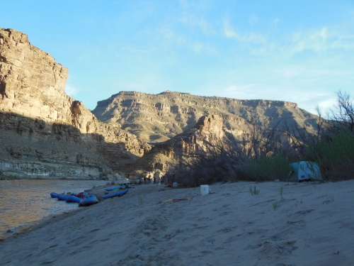 The nomadic life, with a new campground each night, was great- especially when gear was being floated down the river and not packed on our back!