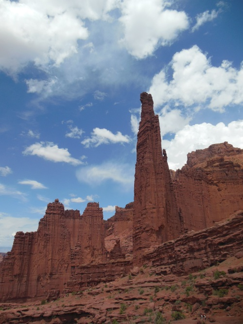 """The Titan"" is the tallest structure at Fisher Towers, and is very striking."