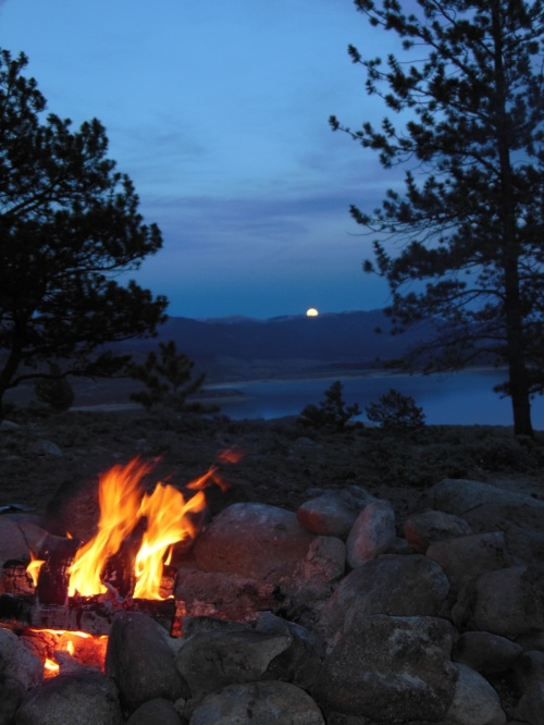 Memorial Day Moonrise over Twin Lakes in Colorado- Not sure I can think of a better way to end the day…