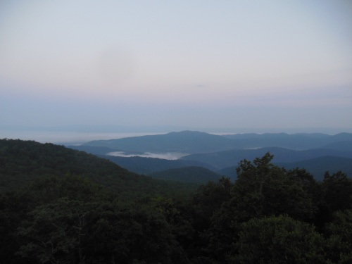 The view at dawn from Bearfence mountain.