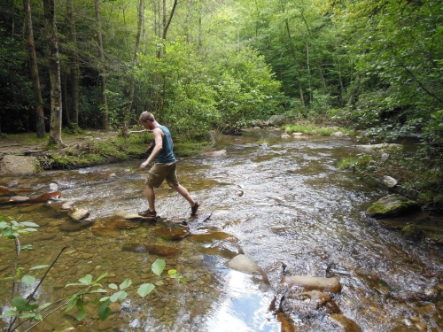 Putting in some miles in Pisgah National Forest...