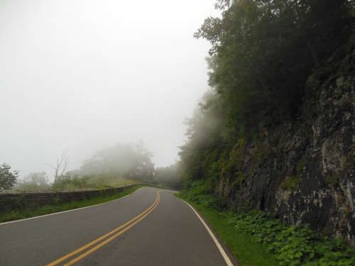 At times, we were in the clouds driving on Skyline Drive.  Driving the length of the park added a few extra miles to our trip, and certainly slowed us down a bit (the speed limit is 35mph and you can't help but pull over and ogle at the views), but it is certainly worth it!