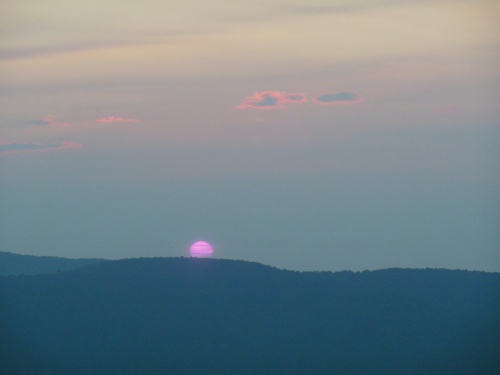 It was certainly worth waking up at 5, and hiking in the dark, to watch the sun rise over Shenandoah.