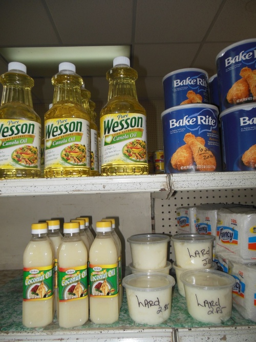 It definitely appears as though vegetable oils are beating out traditional fats in Belize...