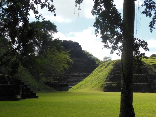 Xunantunich grounds are about 1 square mile, and contain a number of structures.