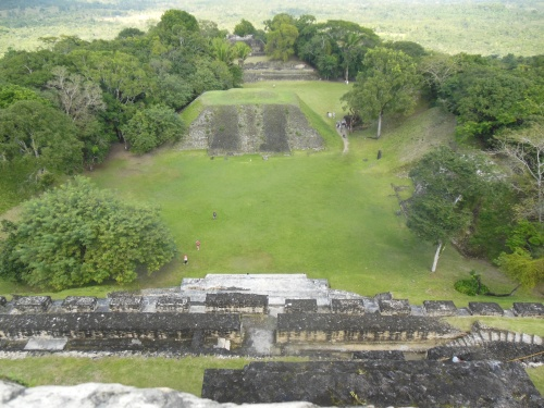 From the top of El Castillo you can see how many of the structures line up.  Many Mayan sites are lined up with a north-south and east-west axis.  At Xunantunich, El Castillo is at the center of these two axes.