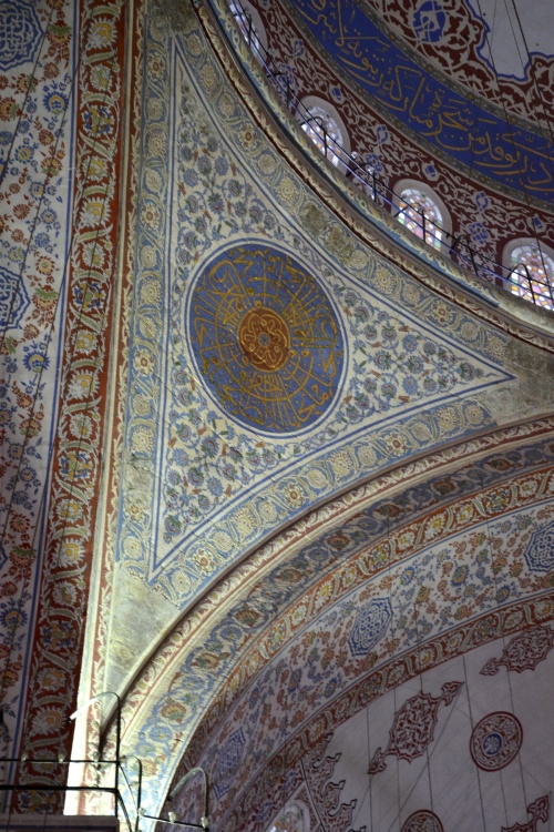 Truth in advertising- the inside of the Blue Mosque is rather blue!