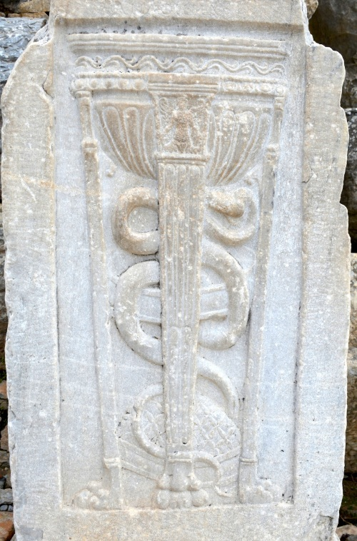 A Caduceus (picture taken at Ephesus).