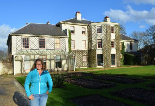 Down House as it is today, with a very excited tourist.
