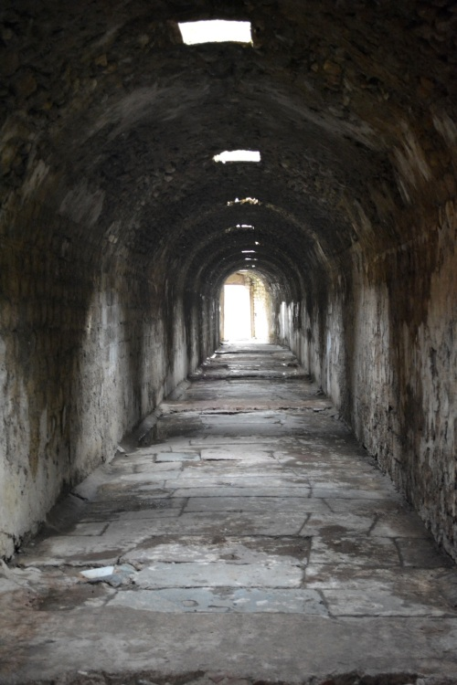 An underground walkway at the Asclepion in Pergamon.