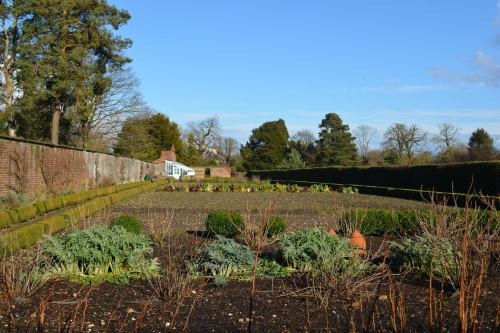 The Kitchen Gardens.  Not much going on this time of year, but in summer these beds are full.  This is where Darwin did experiments on pin-eyed and thrum-eyed primroses.