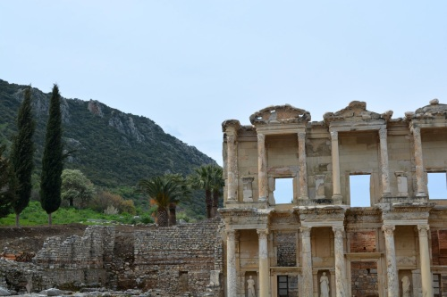 The most famous structure at Ephesus is the library of Celsus.  It's amazing to think what was going on in other parts of the world two thousand years ago while civilization was thriving here along the Aegean.