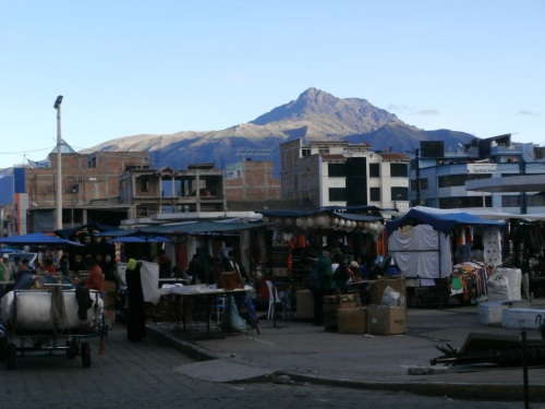 The market in Otavalo, as business was winding down on a Friday night.