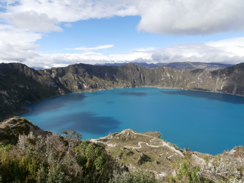 Quilotoa- more on this beautiful place later, but this is one of may beautiful spots that you can visit in the highlands of Ecuador.