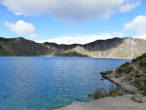 The lake at the base of the crater.  The colors of the lake are amazing, and changed with the angle and intensity of the sun.