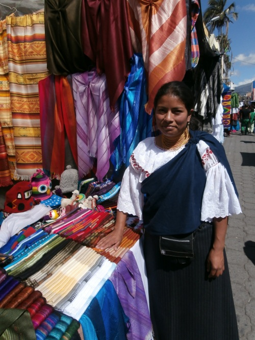 I bought a few scarves from this young lady, who sold alpaca and cotton scarves, as well as wool hats that she knits herself (I somehow resisted the sponge-bob hat).