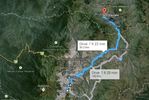 The route to Otavalo.